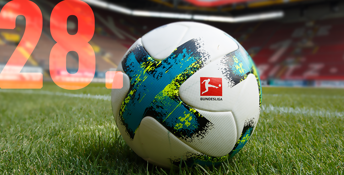 bundesliga official ball in the pitch